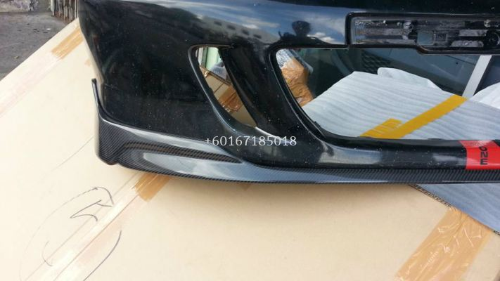 honda fit gd modulo carbon lip bumper lip cf