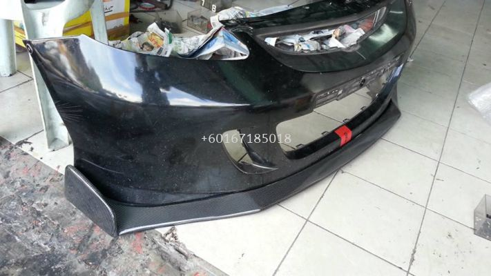 2003 2004 2005 2006 2007 honda jazz fit gd js racing front lip diffuser for jazz fit gd type s add on add on upgrade performance look real carbon fiber frp material new set