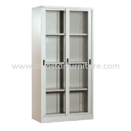 A119 FULL HIGH CUPBOARD WITH GLASS SLIDING DOOR