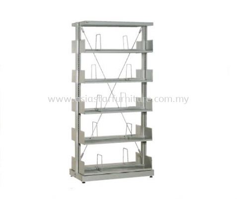 LIBRARY SHELVING DOUBLE SIDED WITH 5 SHELVING