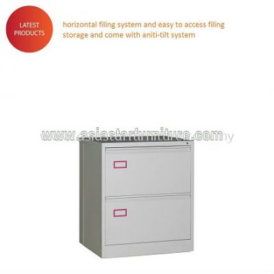 Anti Tilt 2 DRAWER LATERAL CABINET