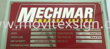Mechine tag or Boilerplate /  Etachin / chemical Atachin plate