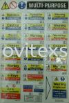 multi purpose safety sign/ label sign  Label Jb or sticker sign or adhesive Safety label safety sign sample