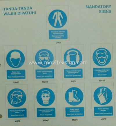 mandatory safety sign /tanda tanda wajid