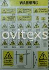 warning sign plate n poster or label sign printing  Label Jb or sticker sign or adhesive Safety label safety sign sample