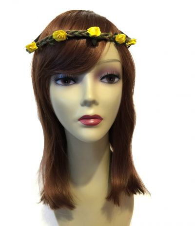 Flower Head Band (Yellow)