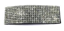 Full Stone Snap Clip (Silver) Hair Clips  Hair Accesories