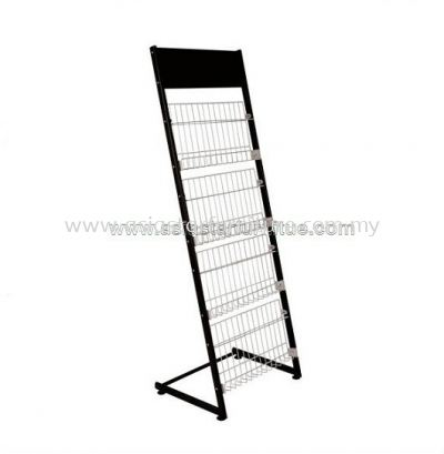 MR A212B 4 TIER NET WIRE MAGAZINE RACK