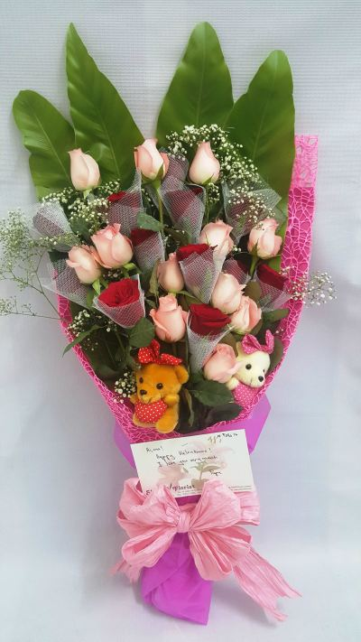With Bears Flower Bouquet (HB-285)