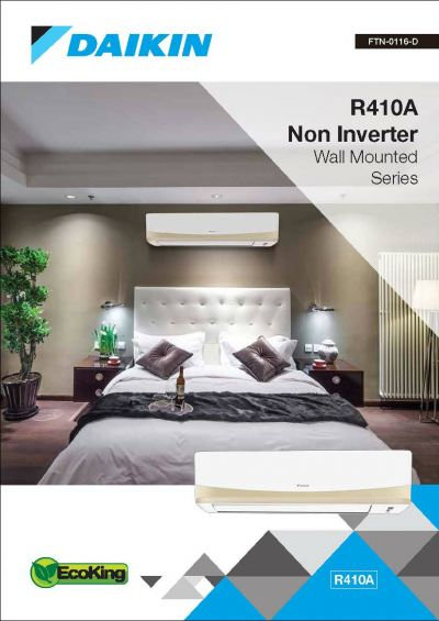Daikin R410A Non-Inverter Wall Mounted P & QS Series Air-Conditioner (GA Range)
