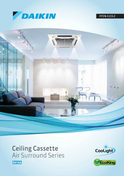Daikin R410A Non-Inverter Ceiling Cassette F Series Air-Conditioner (GA Range)