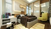 Guest Room Guest Room Modern Contemporary Interior Design for Mr. Baldesh house in Rawang