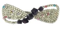 Ribbon Crystal Stone Hair Clip (Silver/Purple) Hair Clips  Hair Accesories