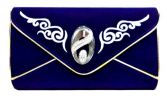 Design Velvet Clutch (Blue) Velvet Clutch Clutches