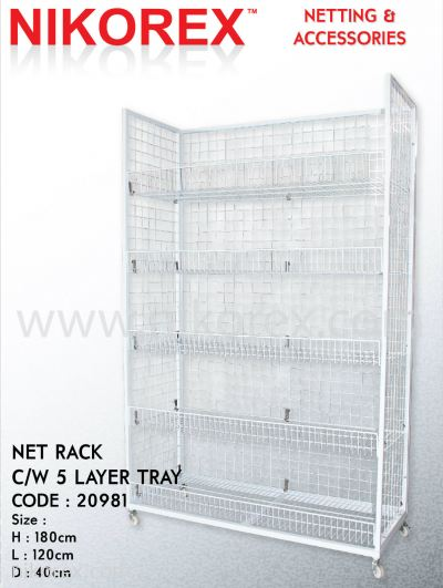 20981-NET RACK C/W 5 LAYERS TRAY