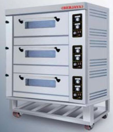 GAS OVEN 3 DECK 9 PANS Gas Ovens Bakery Machinery