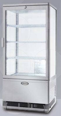 Four Glass Display Cooler Display Chillers / Coolers Refrigeration