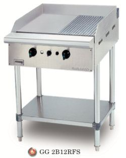 STAINNLESS STEEL GAS GRIDDLE HALF RIBBED Gas Griddle Gas Equipment