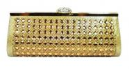 Gold Stone Studded Clutch (Shimmering Gold) Modern Clutch Clutches