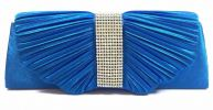 Glossy Satin Party Clutch (Blue) Party Clutch Clutches