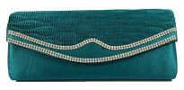 Glossy Satin Party Clutch (Green) Party Clutch Clutches