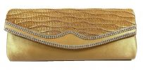 Glossy Satin Party Clutch (Gold) Party Clutch Clutches