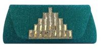 Glitter Party Clutch (Green) Party Clutch Clutches