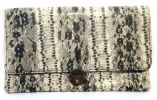 PU Leather Snake Design Envelope Clutch (Mix Colour) Modern Clutch Clutches
