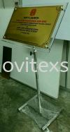 soft launching oppning plaque sign free standing pole  Ceremonial Plaque