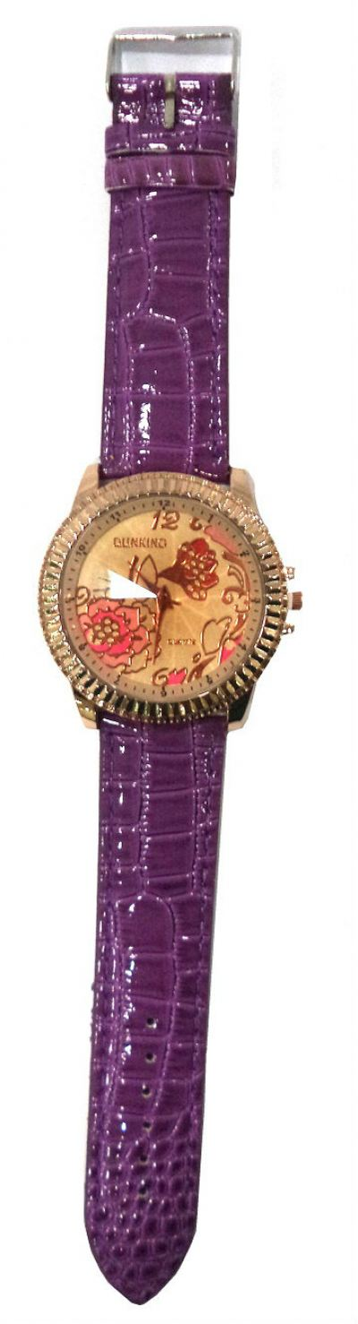 Big Leather Flower Watches (Purple)