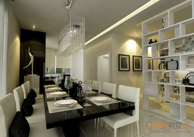 Dining Area Condominium Design Concept CONDOMINIUM RESIDENTIAL RENOVATION N INTERIOR DESIGN IN JOHOR
