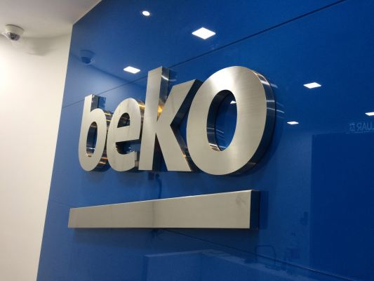 'Beko Office' Stainless Steel Box Up Lettering