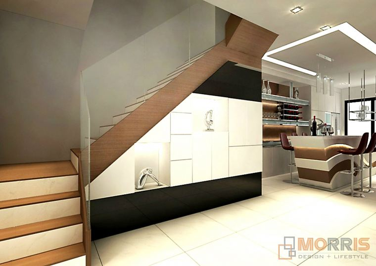Stair Case Area Design Taman Gaya INDAH HEIGHT_ THREE STOREY SEMI-D  RESIDENTIAL RENOVATION N INTERIOR DESIGN IN JOHOR