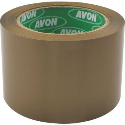 AVN9815040K - 75mmx66M LOW NOISE POLYPROPYLENE TAPE 35MU BUFF