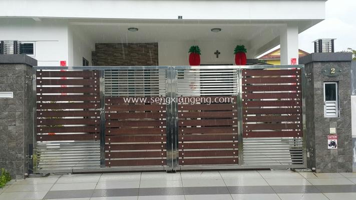 Stainless Steel Swing Main Gate