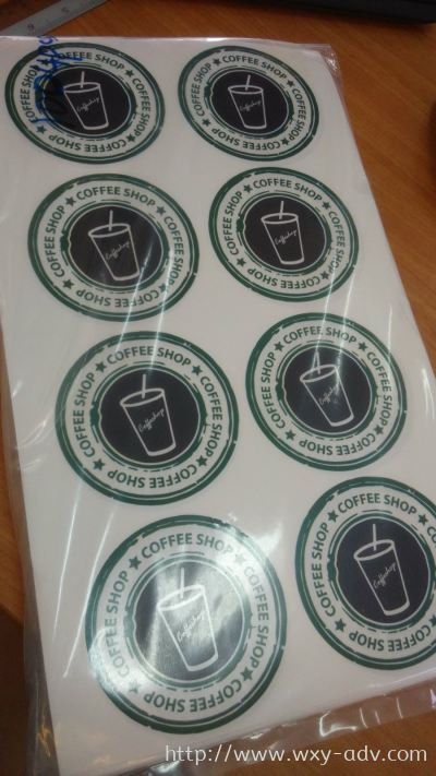 Coffee Shop Label Sticker