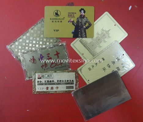 gold plating photo engraving card n etching plate