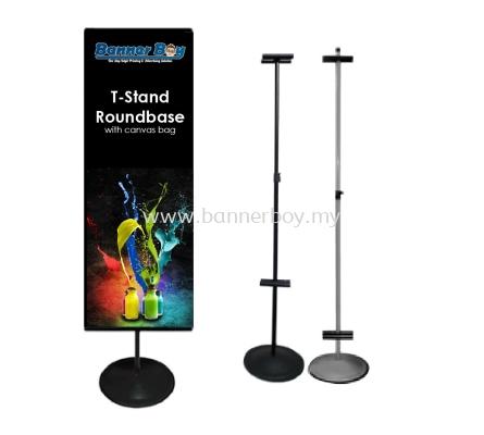 T-Stand Round Base, Stand kaki bulat, bunting stand, Round Stand