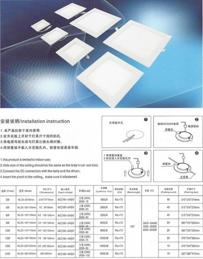 JDY - WLZX Embedded-Lifting Type-Flat Lamp Series (Square)