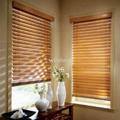 "Wooden Blinds 02 - Size: 38""(W) x 78""(H)"