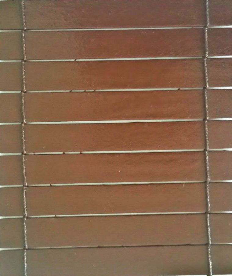 Wooden Blinds (Code 260S) Colour - Dark Brown 970 Wooden Blinds Tropical Outdoor