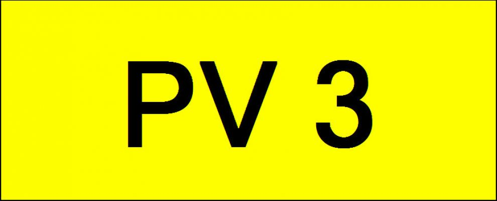 Superb Classic Number Plate (PV3)