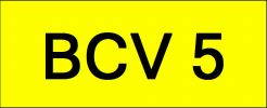 VIP Nice Number Plate (BCV5) All Plate