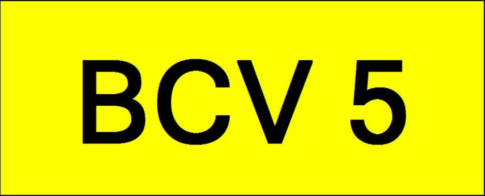VIP Nice Number Plate (BCV5)
