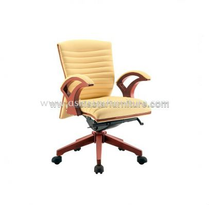 VIO ll WOODEN LOW BACK CHAIR C/W WOODEN TRIMMING LINE ACL 9066