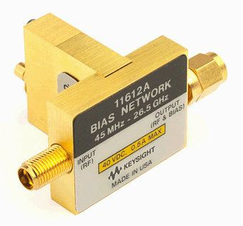 11612A Bias Network, 45 MHz to 26.5 GHz  RF and Microwave Test Accessories  Keysight Technologies