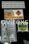 label  stickers for indoor outdoor industry used  Label Jb or sticker sign or adhesive Safety label safety sign sample