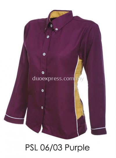PSL 06 03 Purple Ladies Corporate Shirt
