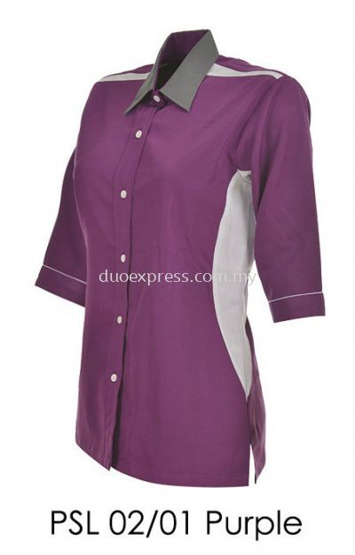 PSL 02 01 Purple Ladies Corporate Shirt