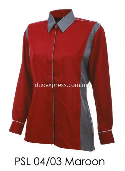 PSL 04 03 Maroon Ladies Corporate Shirt